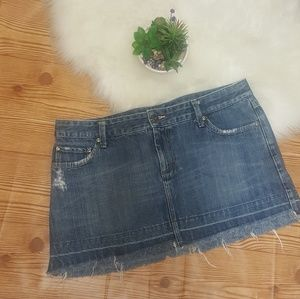 American Eagle Distressed Denim Jean Skirt Size 12